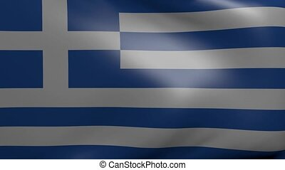 greece strong wind flag