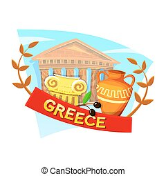 Greece vector illustration