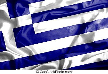 Greece waving flag
