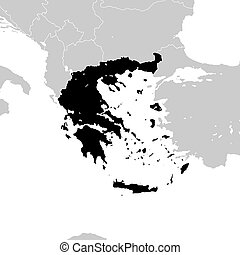 Greece with neighboring European countries