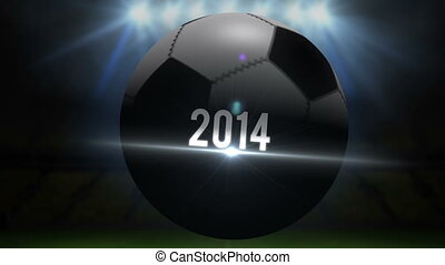 Greece world cup 2014 animation with football on black...