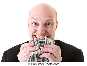 greed avarice dollars - greed, businessman with money. man...
