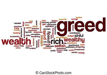 Greed word cloud