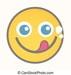 Greedy - Cartoon Smiley Vector Face