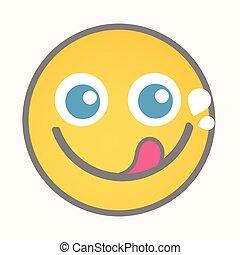 Greedy - Cartoon Smiley Vector Face