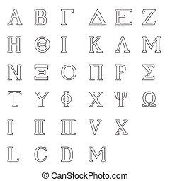 Greek Alphabet Isolated