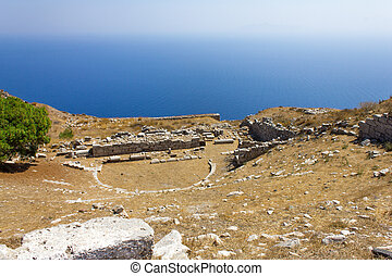 Greek amphitheater in Santorini.