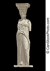 Greek ancient Caryatid statue