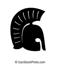 Greek, ancient helmet vector icon isolated on white background