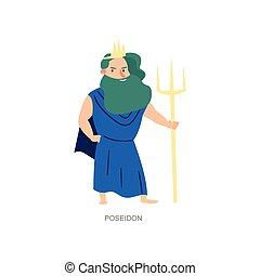 Greek ancient mythology god of sea and ocean poseidon