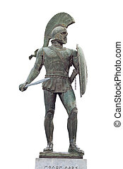 King Leonidas of the 300 spartan soldiers. Statue found at Sparta city in Greece