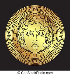 Greek and roman god Apollo vector illustration