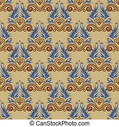Greek antique seamless pattern. Ethnic ornament in brown.