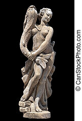 Greek archaic statue of Aphrodite located at Corfu island in Greece