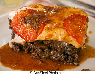Traditional Mediterranean Balkan Greek Lamb Moussaka