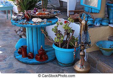 Greek bijou and souvenir market