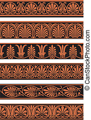 Greek Borders - A selection of Greek style repeating borders