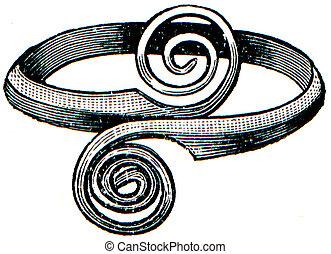 Greek bronze ring 8th century BC