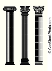 Greek capitals of columns.