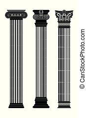Greek capitals of columns.