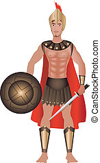 Greek Carnival Costume - Vector Illustration of a Greek...