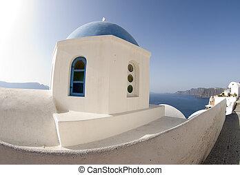 greek church dome santorini