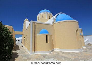 Greek church, Oia, Santorini, Greece