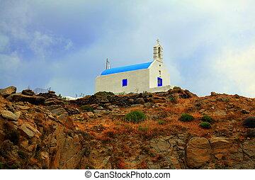 greek church on hill
