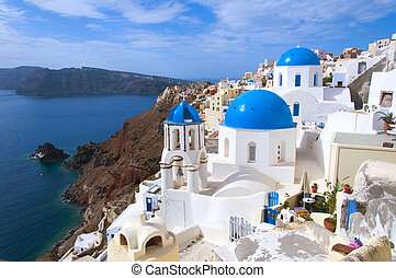 Greek church on Santorini Island
