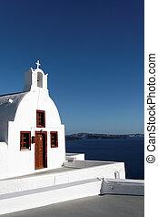 Greek church on the sea beach
