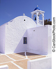 Greek church, Milos island, Greece