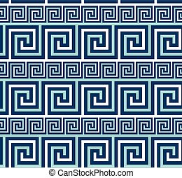 Greek classic meander seamless pattern. Simple geometric repeatable motif for background, wrapping paper, fabric, surface design