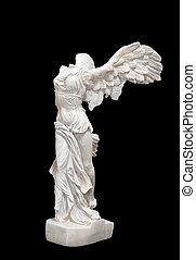 Greek classical statue of \'Nike\' - Greek classical statue...