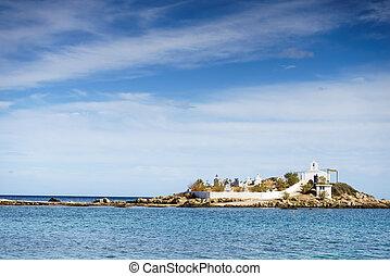 Greek coastline, Agios Fokas village - Agios Fokas region of...