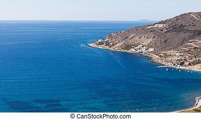 Greek coastline on Peloponnese