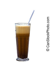"""Greek cold coffee called """"Frappe"""""""