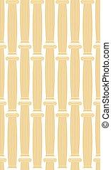 Greek Column background. Vector seamless architectural pattern