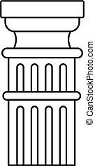 Greek column icon, outline style