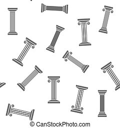 Greek Column Seamless Pattern