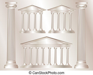 Greek columns - A vector illustration of a classical style...