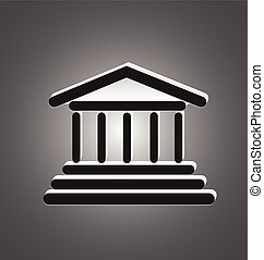 Greek columns temple logo