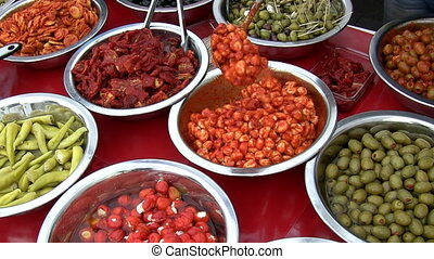 Greek cuisine - Chef demonstrating traditional Greek food
