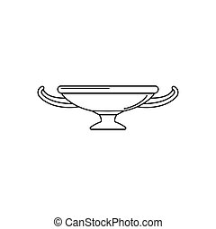 Greek cup icon, outline style