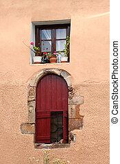 Greek door and window