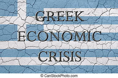 Greek Economic Crisis Flag