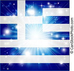 Greek flag background