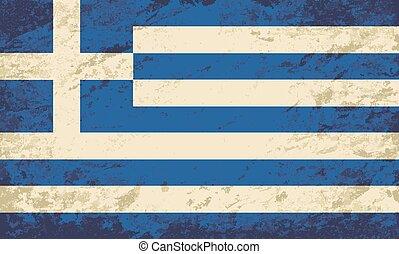 Greek flag. Grunge background.