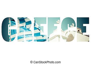 Greek Flag in the Blu Sky