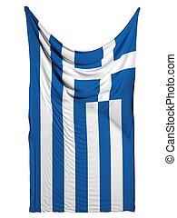 Greek flag on white background