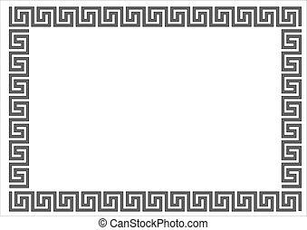 Greek frame. - Greek frame on white background.Greek frame...